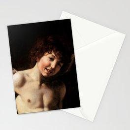 "Michelangelo Merisi da Caravaggio ""Amor Vincit Omnia"" (detail) Stationery Cards"
