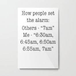 alarm Metal Print