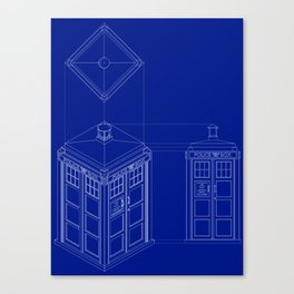 Tardis -Dark Canvas Print