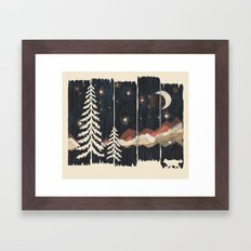 A Starry Night in the Mountains... Framed Art Print