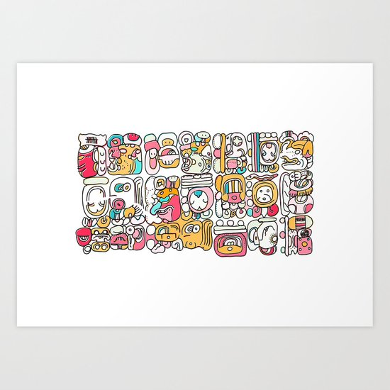 The Mayan Message Art Print