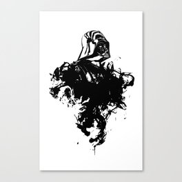 Darth Vader Inked  by Pentasticarts Canvas Print