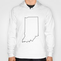 indiana Hoodies featuring Indiana by mrTidwell