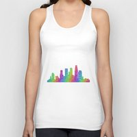 los angeles Tank Tops featuring Los Angeles by David Zydd