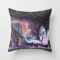 spirited away Throw Pillows featuring Spirited Away by snowmarite