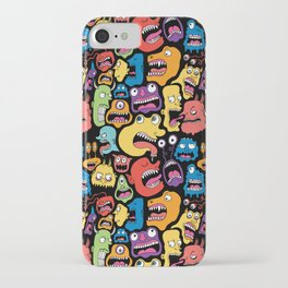 Monster Faces Pattern iPhone Case