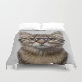 Hipster Cat Duvet Cover