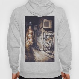 Lower East Side - Midnight Warmth on a Snowy Night Hoody