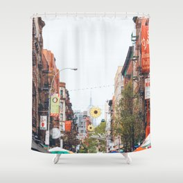 Mulberry Street Little Italy Shower Curtain