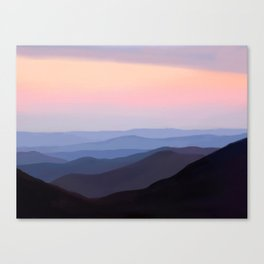 Breath Taking Blue Ridge Mountains Canvas Print
