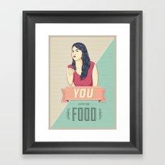Give Me Food Framed Art Print