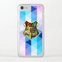 HOGWARTS ABSTRACT TRIANGLE Clear iPhone Case