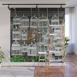 Bird Cages Wall Mural