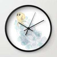 swim Wall Clocks featuring swim by Frojhe