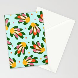 Abstract floral Stationery Cards