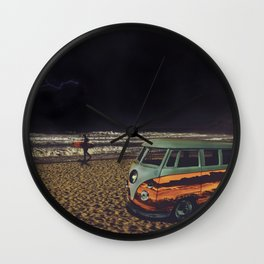 Night Summer Surf Wall Clock