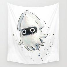 Blooper Squid Mario Watercolor Geek Art Wall Tapestry