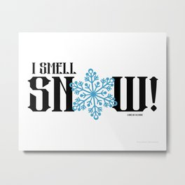 Gilmore Girls Quote Snow Metal Print