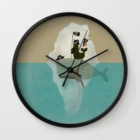 pirates Wall Clocks featuring we are pirates too by bri.buckley