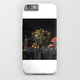Basket of Grapes, Bowl of Cherries iPhone Case