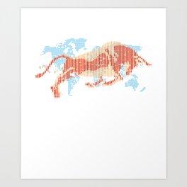 American Bull Index Capitalism Art Print