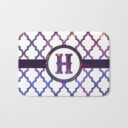 Galaxy Monogram: Letter H Bath Mat