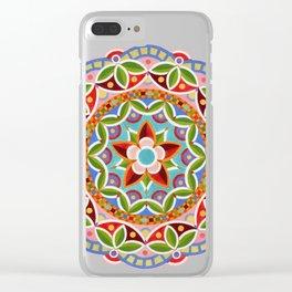 Fiesta Mandala Clear iPhone Case