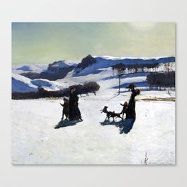 Rockwell Kent - Snow Fields, 1909 Canvas Print