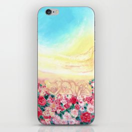 Angels and roses iPhone Skin