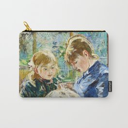11,000px,600dpi-Berthe Morisot - The Artist's Daughter, Julie, with her Nanny - Digital Remastered Edition Carry-All Pouch