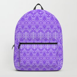Lavender Damask Pattern Backpack