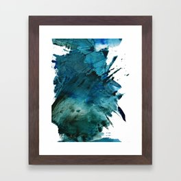 Scenic Route [2]: a pretty, minimal abstract piece in blue and green by Alyssa Hamilton Art Framed Art Print