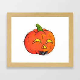 Pumpkin Groom Framed Art Print