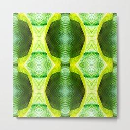 93 - Hosta plant abstract pattern Metal Print