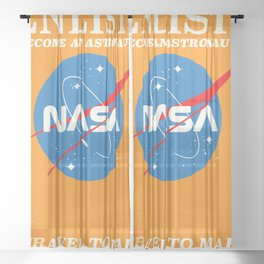 "NASA Enlist! Become an Astronaut ""Travel to Mars"" Sheer Curtain"