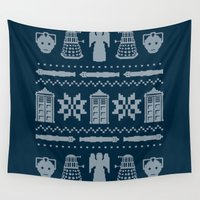 sweater Wall Tapestries featuring Who's Sweater by Mandrie