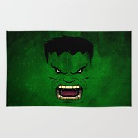 monster inc Area & Throw Rugs featuring Monster Green by Inara