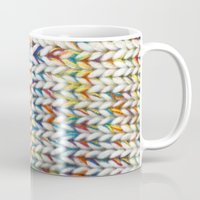 knit Mugs featuring Knit Pattern  by Manuela Mishkova