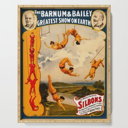 Vintage Barnum & Bailey Circus - Trapeze Serving Tray