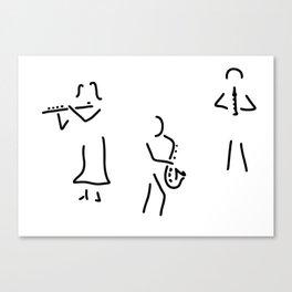 transverse flute saxophone flautist wooden Canvas Print