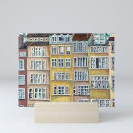 Quai de Saone, Lyon, France, French facade Mini Art Print