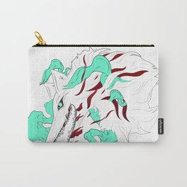 White Evil Wolf Carry-All Pouch