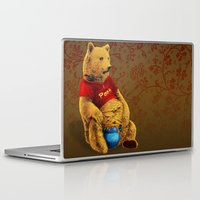 pooh Laptop & iPad Skins featuring Pooh by J ō v