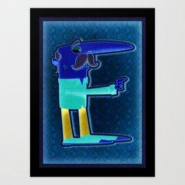 Illustrated E Art Print
