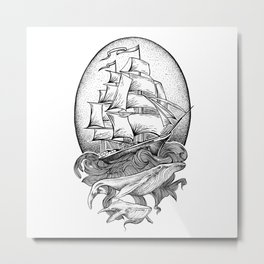 GUIDED BY WHALES Metal Print