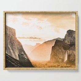 Yosemite Valley Burn - Sunrise Serving Tray