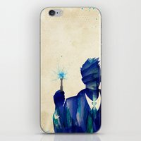 david tennant iPhone & iPod Skins featuring Doctor Who 10th Doctor David Tennant by Art by Colin