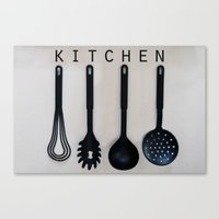 kitchen Canvas Prints featuring KITCHEN by MadiS