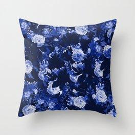 Night Botanical Garden Throw Pillow