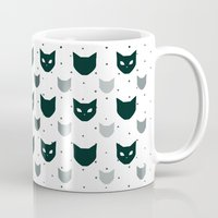 because cats Mugs featuring Cats Cats Cats by Be Kindly